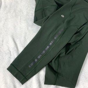 Lululemon Green Full Length Drawstring Leggings